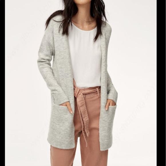 Aritzia Wilfred Free Aronson Sweater Heather Grey